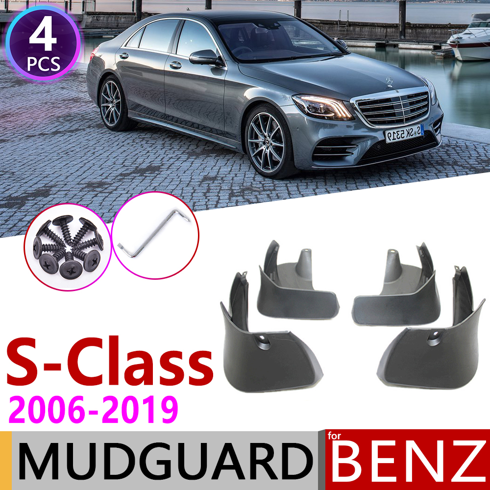 Mudflap for <font><b>Mercedes</b></font> Benz <font><b>S</b></font> <font><b>Class</b></font> W221 V221 <font><b>W222</b></font> 2006~2019 Fender Mud Guard Splash Flap Mudguard Accessories 2010 S350 S400 S450 image