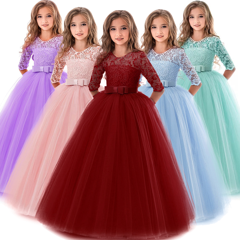 Children Princess Girls Party Wear Kids Christmas Dress Girl's Birthday Dress Baby Girl Wedding Banquet Clothes 3-14 years