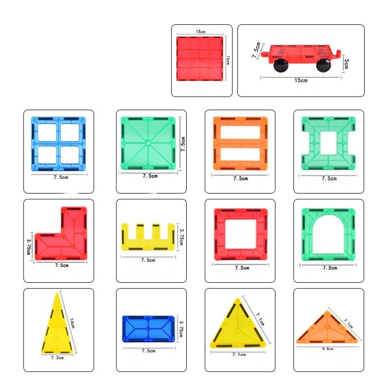 Головоломка магнитный кусок удивительное изменение тянет блоки цвет в коробке мудрости строительство магнит в сборе детские развивающие - 2