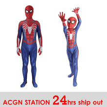 PS4 Spiderman Cosplay Costume 3D Print Avengers Anime Full Bodysuit for Halloween party boy costummes back to school