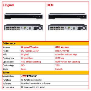 Image 2 - Hikvision OEM NVR DS 7616NI I2/16P (OEM modeli: DT616 V2/P16) 16CH POE NVR POE kamera için 12MP maksimum 2SATA ağ Video kaydedici