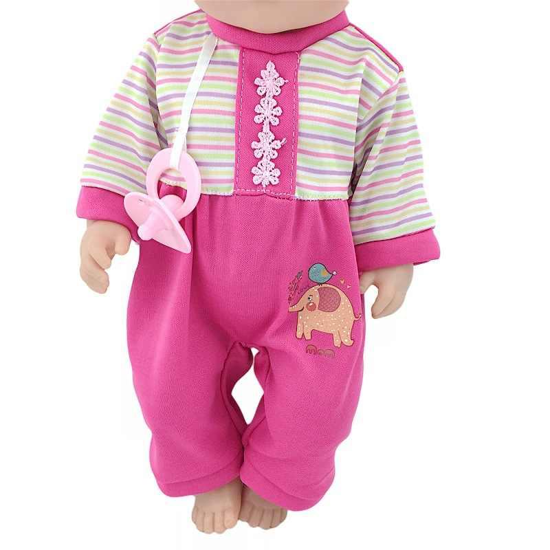 18 אינץ 43cm Schaaf בובת בגדי Zapf תינוק נולד שיער להקת מוצץ פיל סרבל תינוקות סחר חוץ מכירה לוהטת