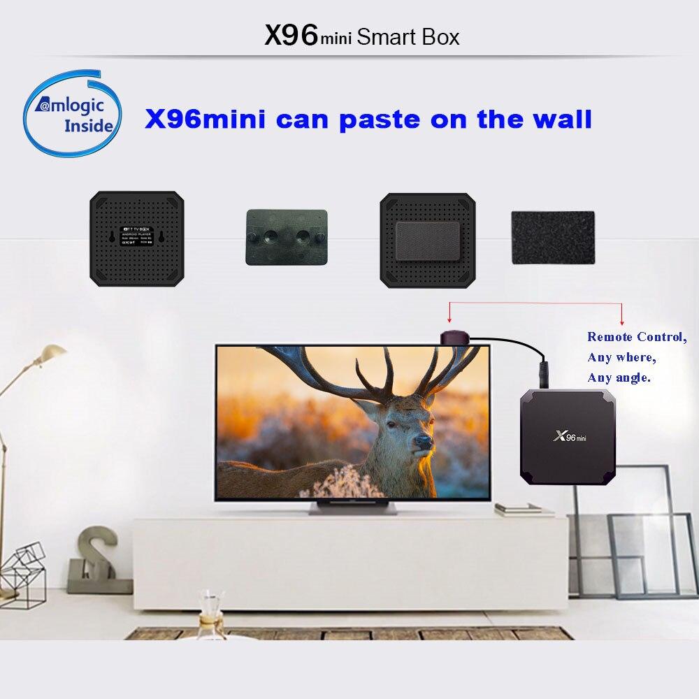 Image 3 - X96 mini TV BOX Android 7.1 Smart TV Box 2GB 16GB / 1GB 8GB Amlogic S905W Quad Core 2.4GHz WiFi Set Top Box X96mini-in Set-top Boxes from Consumer Electronics