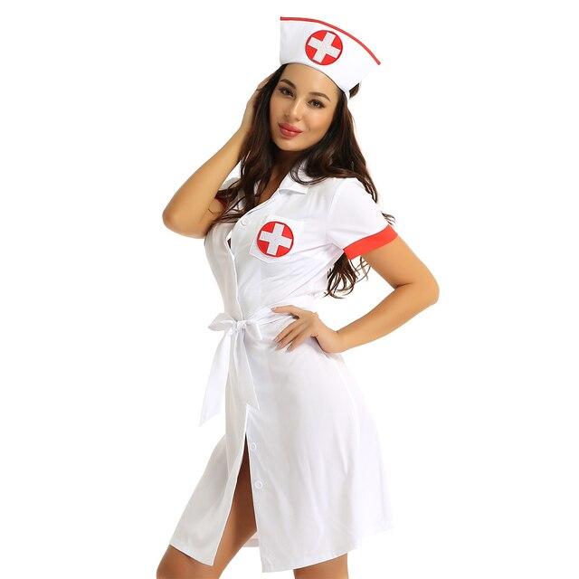 Sexy Halloween Cosplay Nurse Kinky Costume #C1526 5