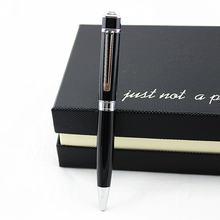 Роскошная черная деловая ручка 05 мм металлическая шариковая