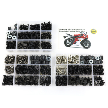 цена на For Yamaha YZF R6 YZF-R6 2008-2016 Motorcycle Screws  Complete Full Fairing Bolts Kit Washer Fastener Clips Steel Nuts