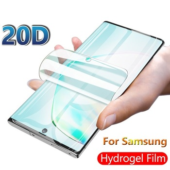 Screen Protector For Samsung Galaxy Note 10 9 8 A6 A8 Plus a9 A7 2018 Hydrogel Soft film For S7 EDGE A5 2017 Film Not Glass image