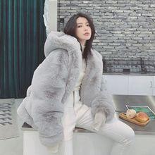 Plush Coat Women's Winter 2021 New Style Korean Loose Imitation Plush Fleece Hooded Fur Coat