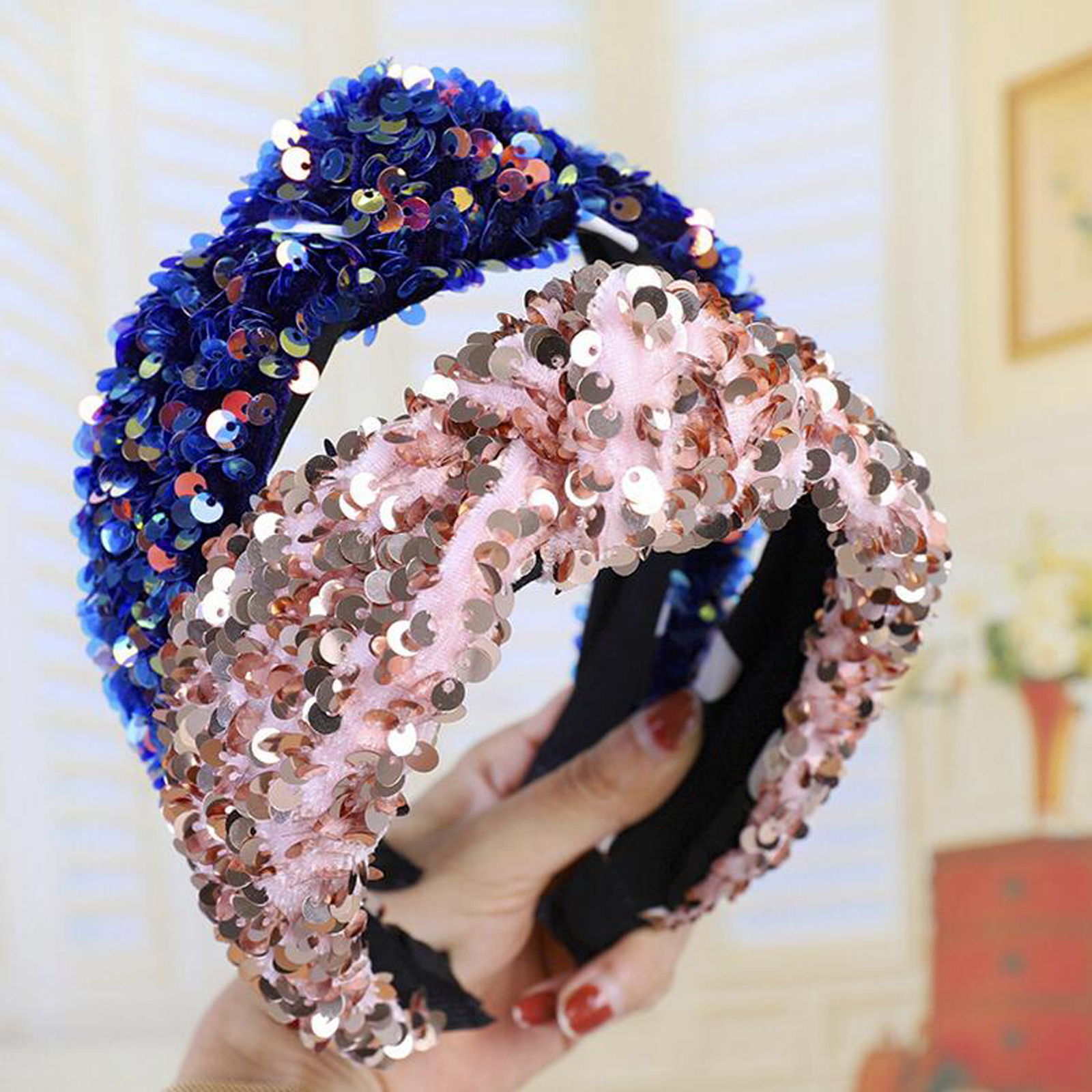 New Fashion Headband Adult Wide Side Hairband Women Shining Candy Plastic Hair Band Adult Center Knot Turban Hair Accessories