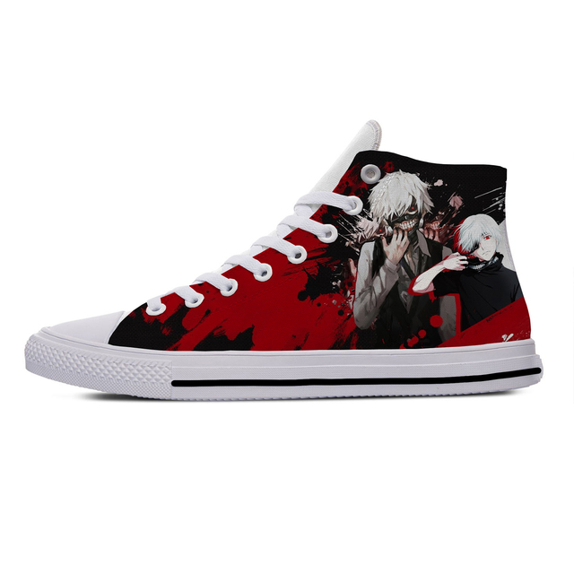KEN KANEKI TOKYO GHOUL THEMED HIGH TOP SHOES