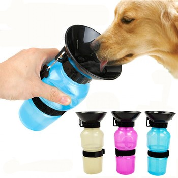 2019 New Pet Dog Water Bottle Portable Drinking Water Feeder For Outdoor Dogs Travel Water Bottle Dogs Water Bowl Pet Supplies