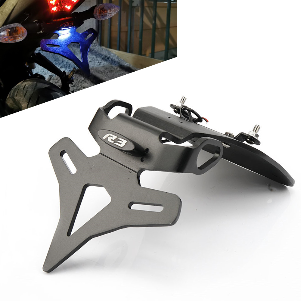 Bracket License-Plate-Holder Tail-Tidy-Fender-Eliminator YZFR3 Motorcycle Yamaha  title=