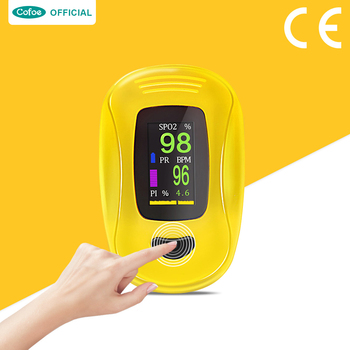 health care ce Cofoe Household Digital Finger clip pulse Oximeter blood oxygen Heart Rate Saturation Meter with OLED Silicone Health Care CE