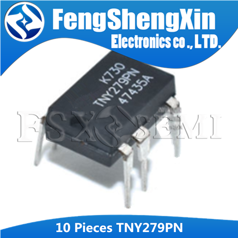 10PCS <font><b>TNY279PN</b></font> DIP-7 TNY279 DIP TNY279P DIP7 279PN Switch management power supply IC image