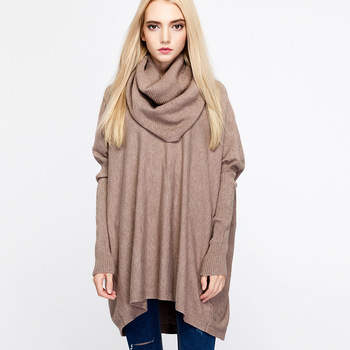 HLBCBG Turtlneck knitted women poncho cloak sweater Bat sleeve autumn winter female pullover sweater Side split capes cloak new fashion autumn and winter women print tassel knit poncho cardigan female bat sleeve cloak sweater