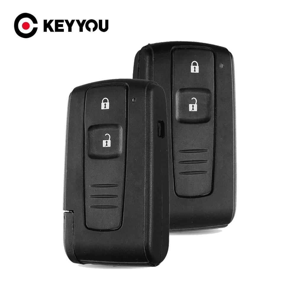 KEYYOU чехол для ключей корпус на брелок для Toyota 2004 2005 2006 2007 2008 2009 Corolla Verso Camry 2 кнопки Замена Smart Key