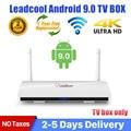 Приставка Смарт-ТВ Leadcool, Android 9,0, четырехъядерный процессор RK3229, 2,4 ГГц, Wi-Fi, H.265, 1 + 8 Гб