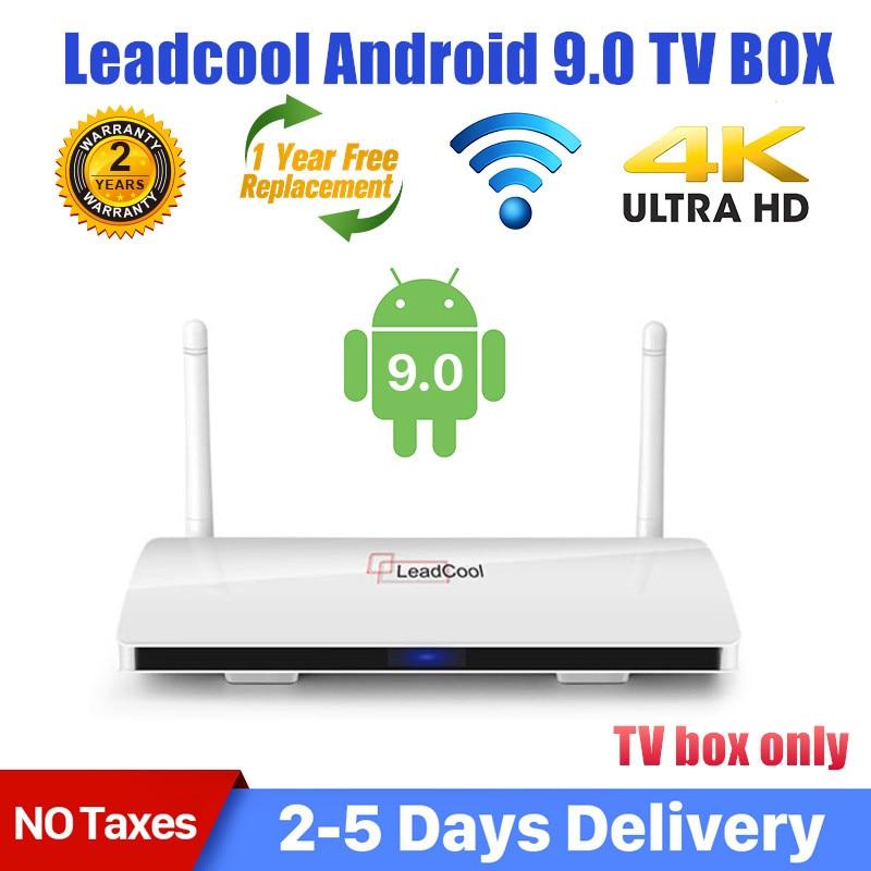Приставка Смарт-ТВ Leadcool, Android 9,0, S905W, 4 ядра, 1 ГГц, 2,4 ГГц, Wi-Fi