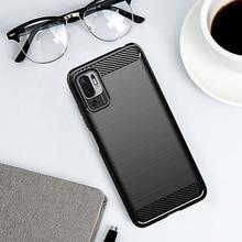 For Xiaomi Poco M3 Pro Case Carbon Fiber Shockproof Soft Silicone Cover for For Xiaomi Poco M3 Pro 5G Case for Poco M3 Pro 5G