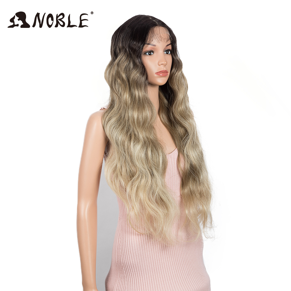 Nobre perucas de renda sintética para mulheres