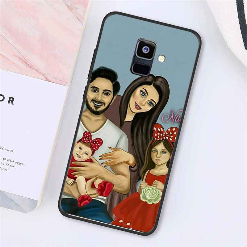 Babaite แฟชั่นสีดำสีน้ำตาลผมทารกสาว Queen โทรศัพท์กรณีสำหรับ Samsung Galaxy A7 A50 A70 A40 A20 A30 a8 A6 A8 PLUS A9 2018