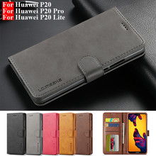 Huawei P20 Lite Case Leather Vintage Phone Case For Huawei P20 Pro Case Flip Magnetic Wallet Cover On Huawei P 20 P20 Lite Cases cheap LC IMEEKE Wallet Case For Huawei P20 lite Huawei P20 Pro Huawei P20 Case Plain Heavy Duty Protection With Card Pocket