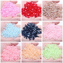 All colours  Half Round Pearl plastic Rhinestone Crystal Non Hotfix Flat Back  Nail Art Rhinestones& Jewelry Making
