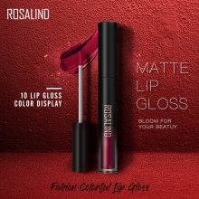 ROSALIND Lipgloss Waterdicht Lipstick Matte Lange Hold Lip Tint Rood Sexy Pigment Naakt Lippenstift Set Make Up Pommade Lip cosmetica(China)