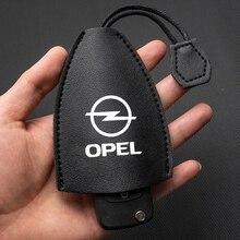 Saco de chave de couro para opel insignia astra j h corsa saco de chave de couro para uso diário