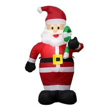Prop Yard Inflatable-Airblown-Ornaments Christmas-Santa Giant with Candy-Canes Lawn Home