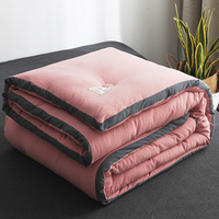 5 Colors Choose Comforter Thickening Warm Bedding Sets Feather Velvet Quilt Winter And Autumn Comforter Bedding Sets CF