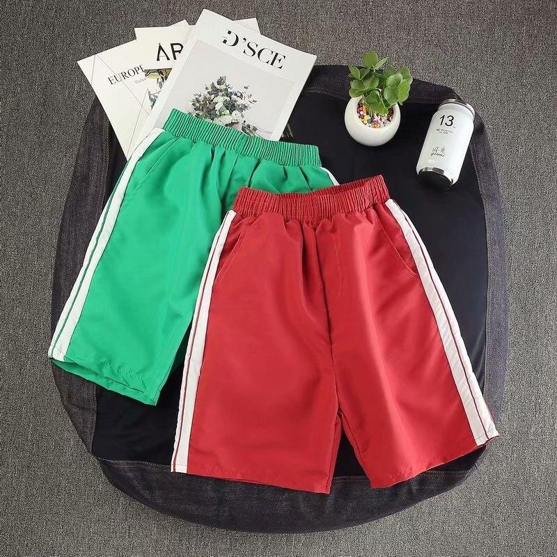 Summer Thin Section Shorts Quick Drying Pants Men's Beach Casual Shorts Couples Simple Short-length Pants Sports Men 3 Pants