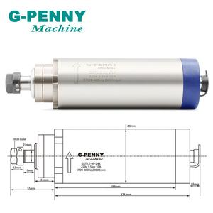 Image 2 - New Product ! 220V 2.2KW ER20 CNC Air Cooled Spindle Motor  80mm Air Cooling 4Bearings CNC Motor Spindle & 80mm aluminum bracket