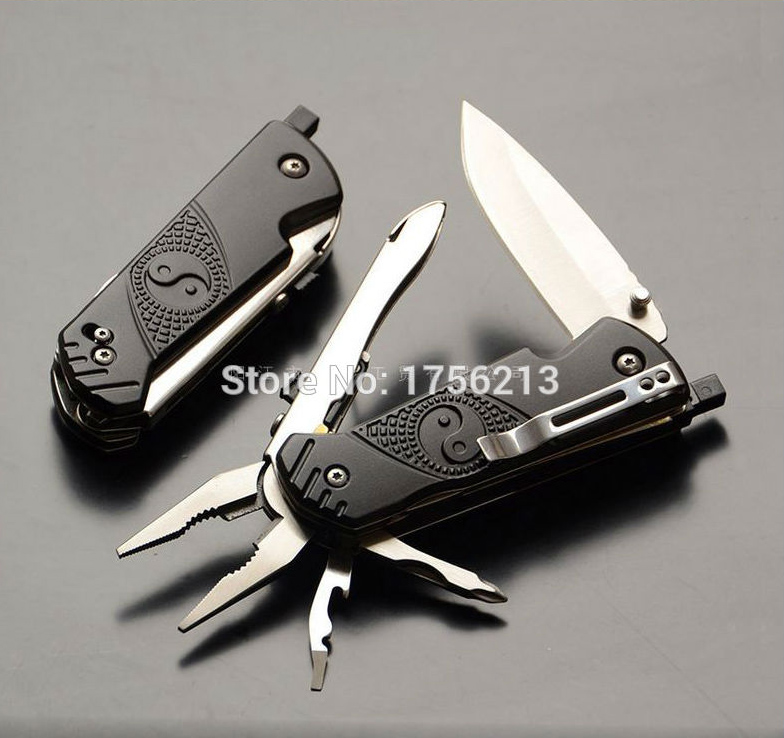 Pocket Clip Outdoor Camping Tools Multifunction Knife With Multi-tool Pliers Suivival Tool