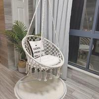 Round Weaving Swing Chair Nordwing Hammock Hanging Chairs Chair(Excluding Hardwares and Cushion) Fashion Style Tassel
