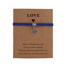 Бесплатная доставка браслет с подвесками в форме сердца ювелирные