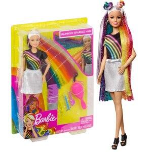 Image 2 - Модная Кукла Барби с радужными блестками, кукла с аксессуарами и одеждой Барби, модные игрушки для девочек, кукла для девочек