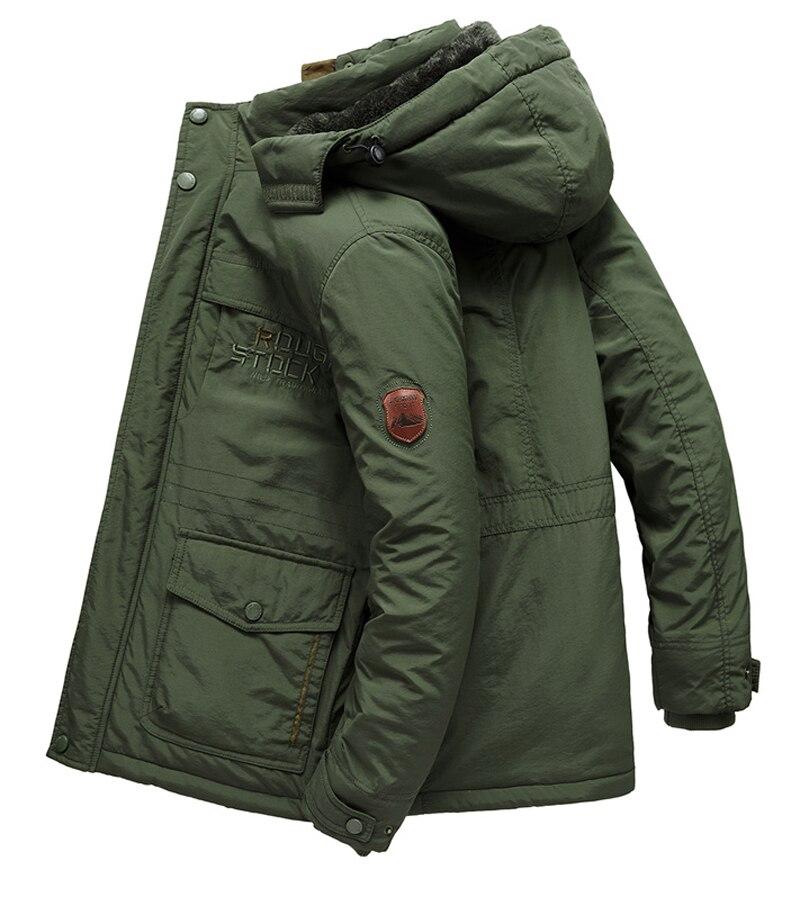 Hommes vêtements 2019 veste homme hiver manteau hommes veste Plus velours épaississement chaud vestes parka hombre à capuche manteaux décontractés - 3