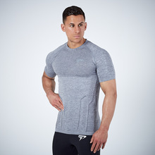 Best Selling Men's Sports Casual Slim Striped round Neckline T-shirt Ultra-Stretch Breathable Tight Golf Base Short Sleeve Top v neckline fluted sleeve gingham top