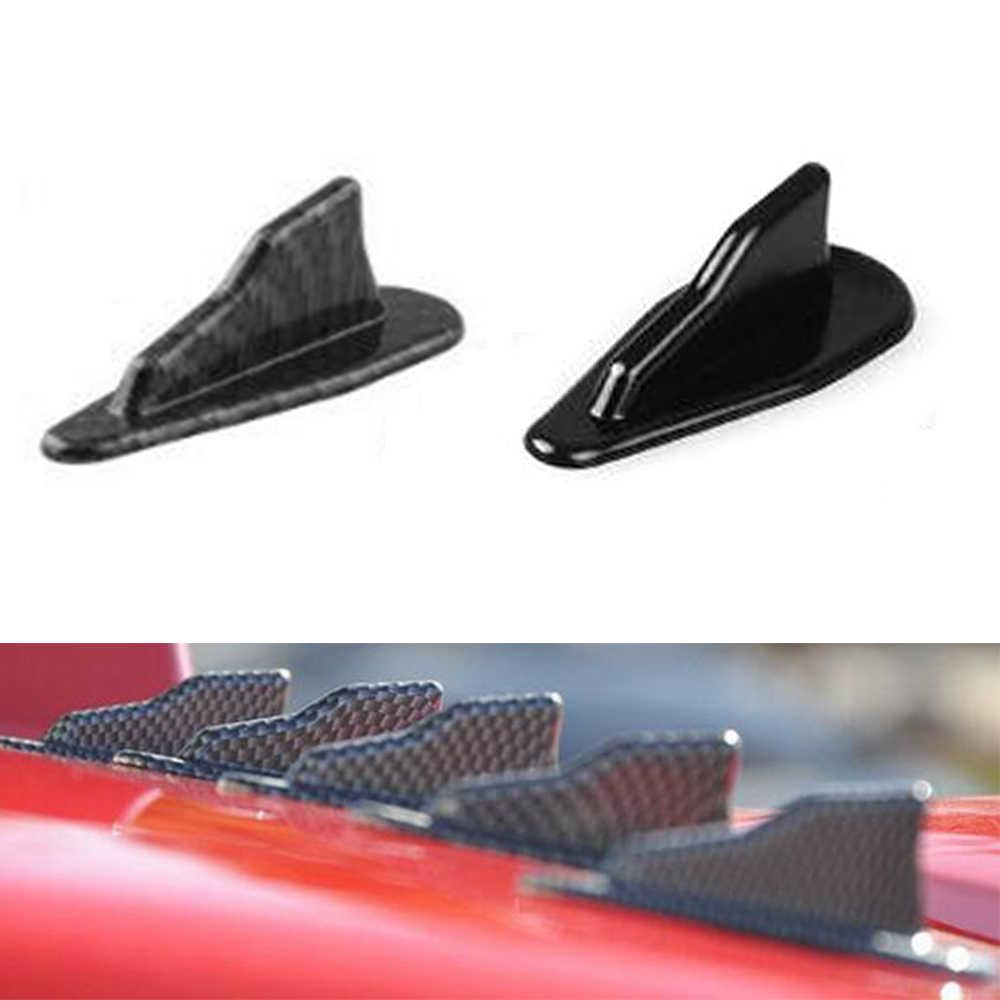 10 個ユニバーサルevo-スタイルabs屋根サメフィンスポイラーウイングキット渦発生黒/カーボン