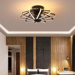 LED ventilateur de plafond lampe ventilateur lumière chambre salon lampes ventilateurs intégrés AC220V pur cuivre moteur avec télécommande
