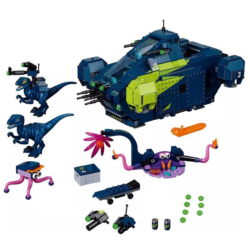 Jurassic World Park série de films dinosaures Rex's Rexplorer Figures blocs de construction briques assembler enfants jouets de noël cadeau