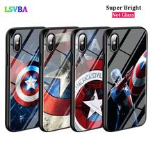 Black Cover America Captain Avengers for iPhone X XR XS Max for iPhone 8 7 6 6S Plus 5S 5 SE Super Bright Glossy Phone Case black cover motivational quotes for iphone x xr xs max for iphone 8 7 6 6s plus 5s 5 se super bright glossy phone case
