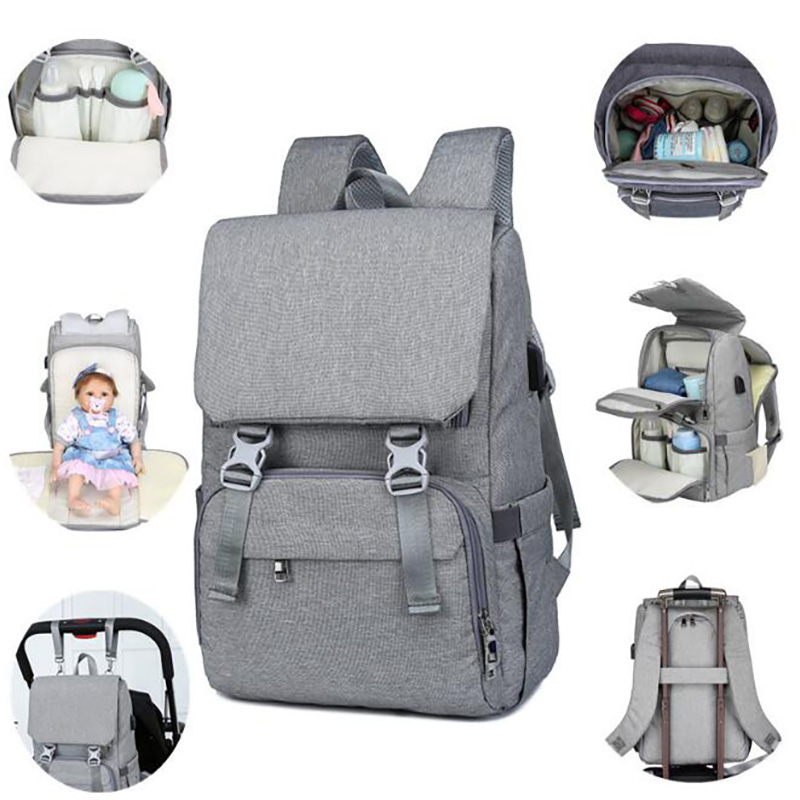 Maternity Bag For Stroller  Nappy Bags Mummy Baby Care Diaper Bag Mother Backpack Multifunction With Usb Capacity Large  BRW001