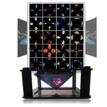 ALLOYSEED Universal 3D holográfica pantalla proyector mini pirámides de proyección holográfica de escaparate para 3,5-teléfono móvil de 6 pulgadas del teléfono móvil
