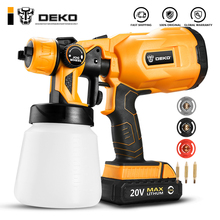 Spray-Gun Paint-Sprayer HVLP Li-Ion-Battery Deko Cordless Household 3-Nozzle-Sizes DKSG20K2