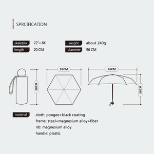 Image 5 - OLYCAT Cute Mini Umbrella Cat Ultralight Pocket Kids Umbrellas Five Folding Sun Protection Windproof Cartoon Umbrella Rain Women