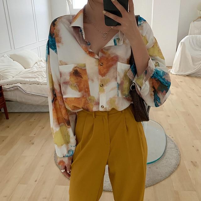 Oversized Long Sleeve Blouse  4