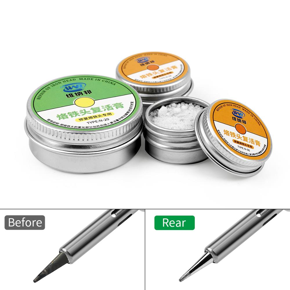 Lead-Free Electrical Soldering Tip Refresher Solder Cream Clean Paste For Oxide Solder Iron Tip Head Resurrection Repair Tools