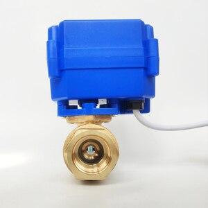 "Image 3 - 1/2"" Electric valve Brass, AC/DC9 24V electric motor valve with 2 wires(CR04), DN15 Electric valve With power off return"